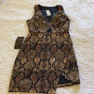 Bebe X Naven Snakeskin Dress